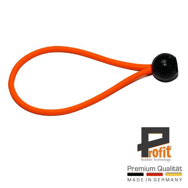 Boucle d'expansion avec balle 200mm Neon Orange | Caoutchouc de tension | Boucles d'expansion | Caoutchouc de tente | Profit Rubber Technology