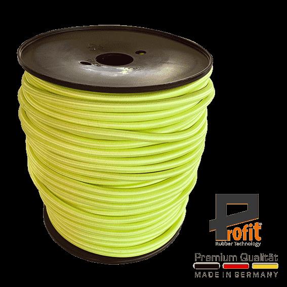 Corde à expansion jaune néon 8mm sur rouleau de 100 mètres