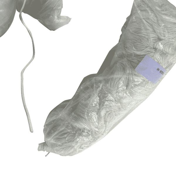 Maskengummi Rund Nylon-Elasthan 3mm Weiß für Atemschutzmasken 1419 Meter
