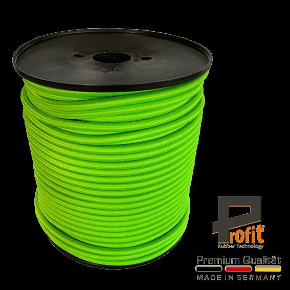 Corde d'expansion - corde en caoutchouc vert fluo 8mm sur rouleau de 100 mètres